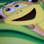 Zwariowana Małpka – obraz canvas