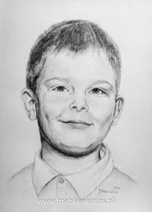 portret-chłopiec-ołówek-dziecko