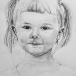 Kinga – portret ołówkiem