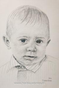 hubert-portret-olowkiem