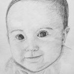 Alicja – portret ołówkiem